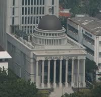Gedung Mahkamah Konstitusi Nampak Dari Atas