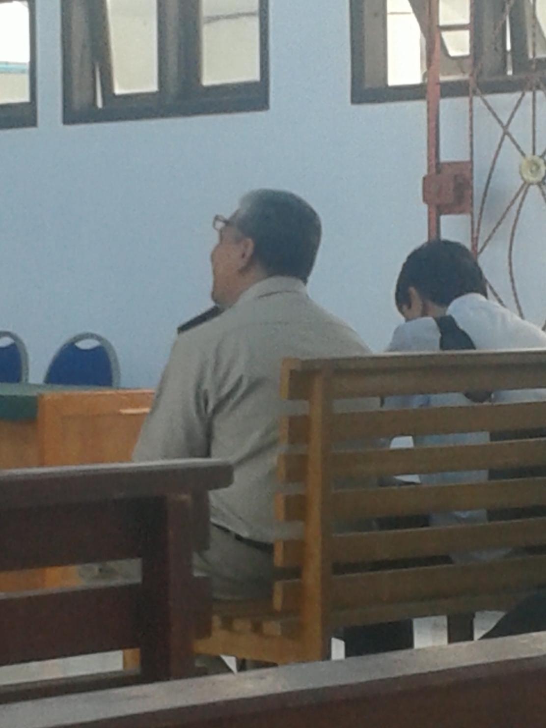Nazmi,Wakil Ketua Badan Pertanahan Nasional ( BPN ) Kabupaten Muaro Jambi ( Sebelah Kiri )
