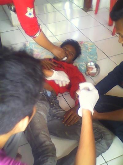 Anak ABG Yang mengalami kecelakaan di Desa Bakung dengan Truk PS.RESKRIM.Doc
