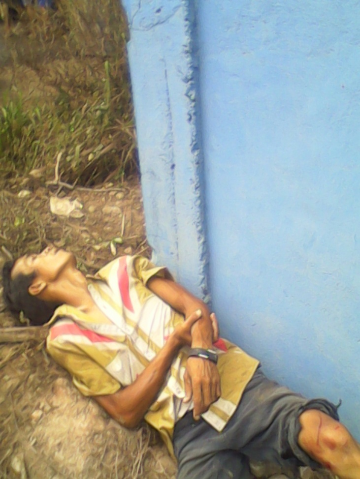 Kondisi supir ketika kejadian  di TKP Jalan Lingkar Selatan Kota Jambi.RESKRIM.Doc