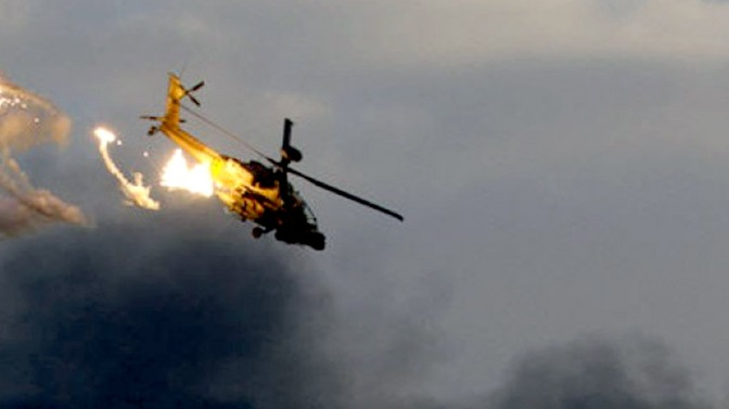 TNI HELICOPTER FALLS ALLEGEDLY thunderstruck