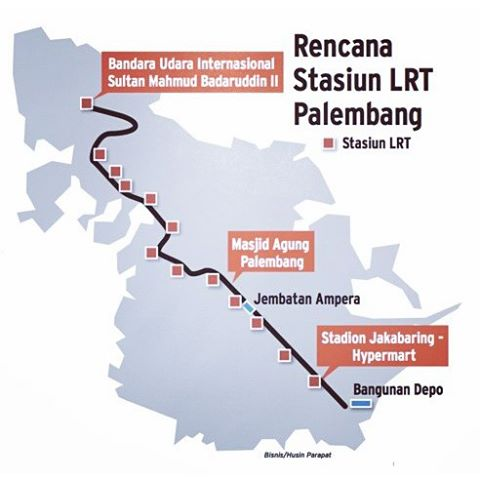 In Palembang, President to review the construction of LRT